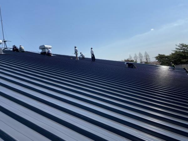某体育館 屋根塗装工事